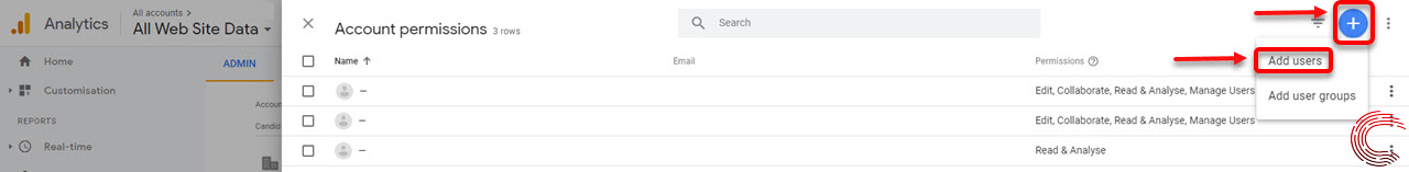 How to add a user to Google analytics?   Candid.Technology