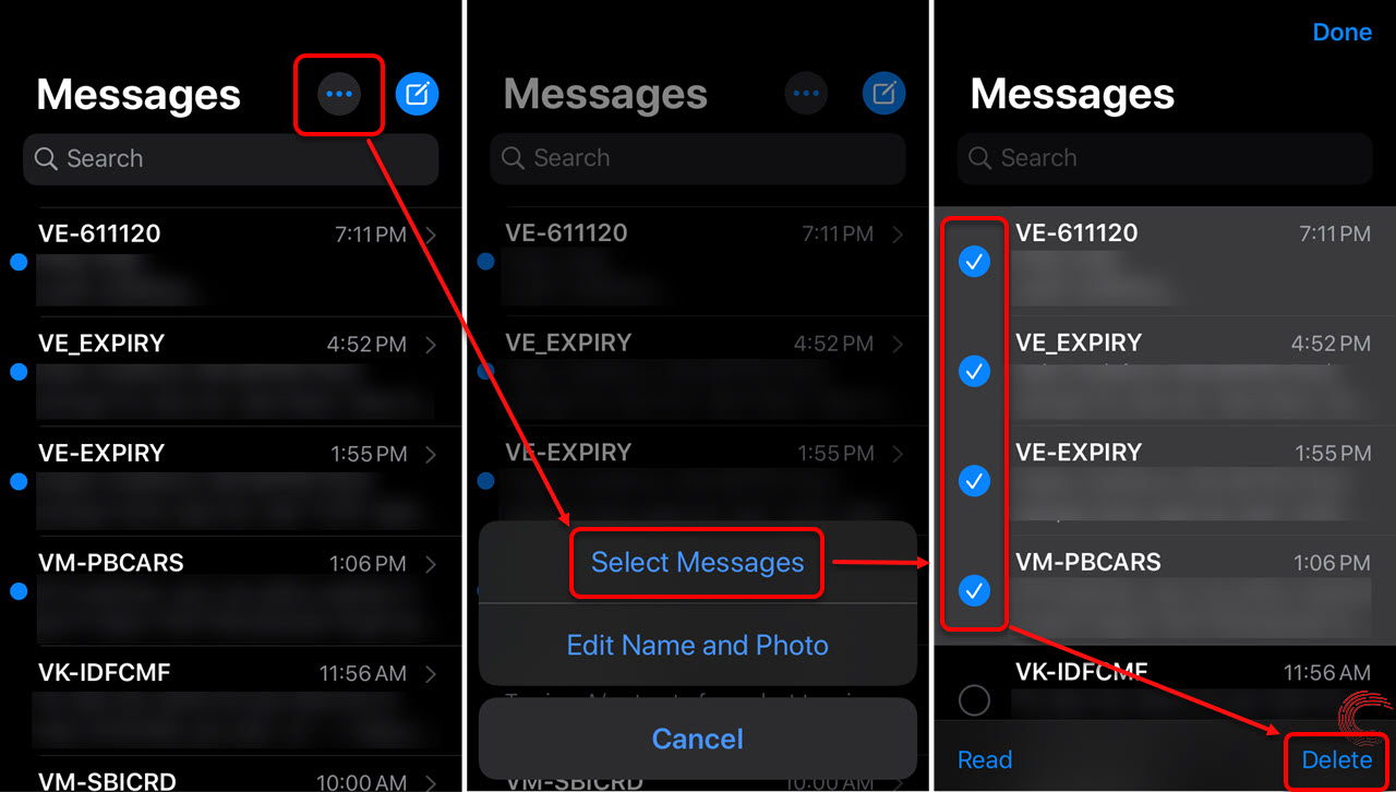 How to delete multiple messages on iPhone?   Candid.Technology