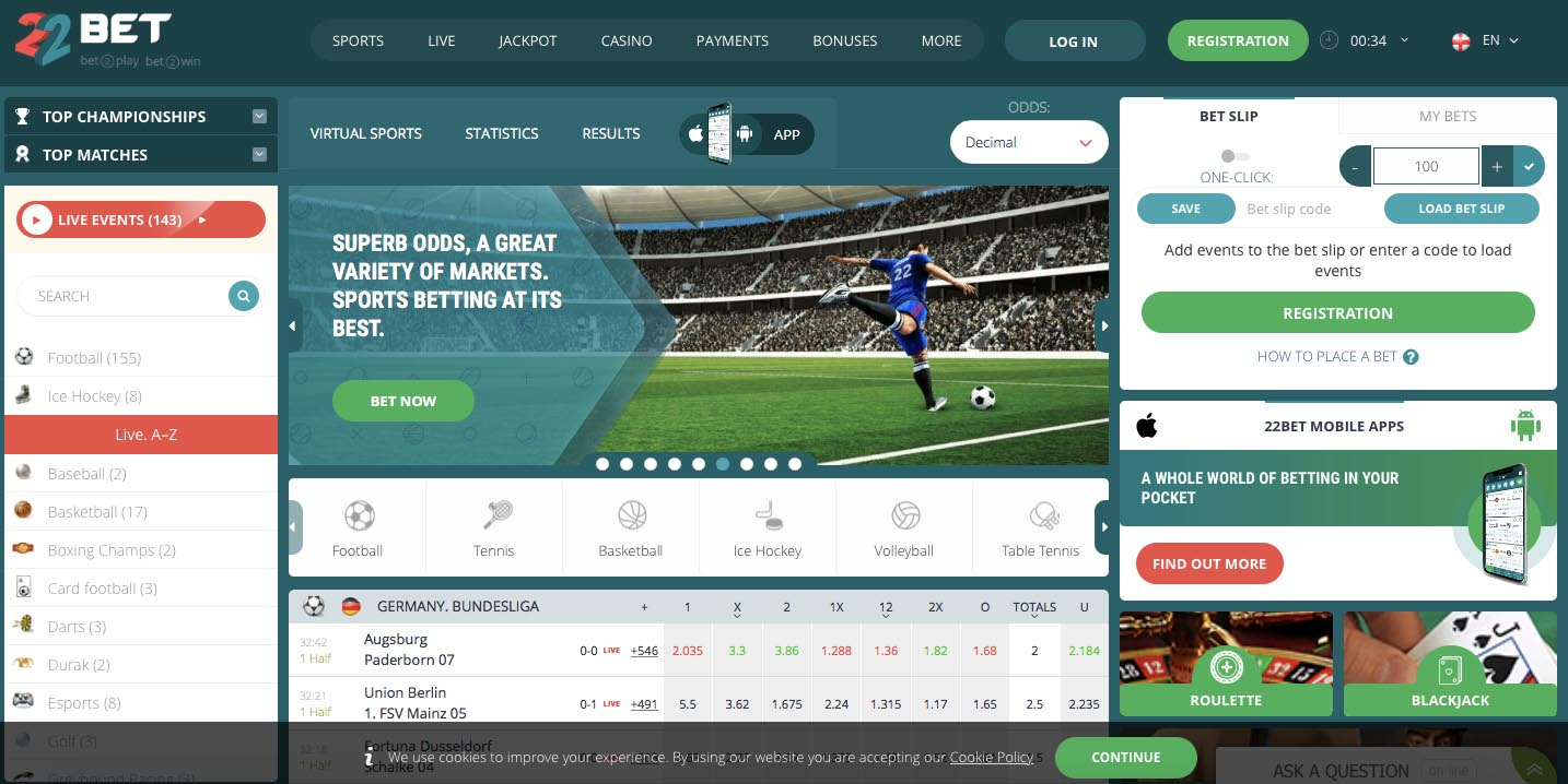 Top 7 sports betting websites | Candid.Technology