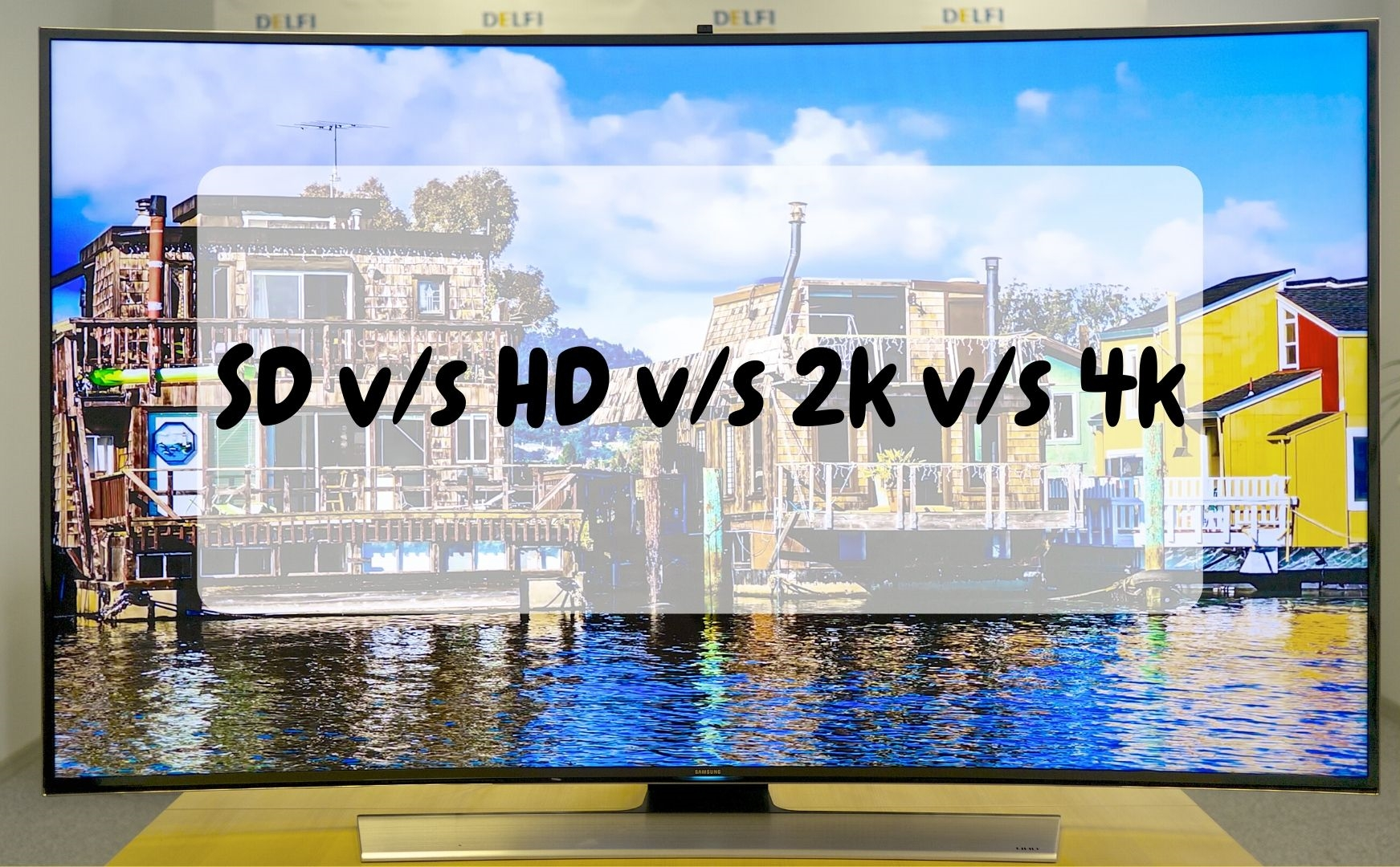 What is the difference between SD, HD, 2k and 4k?