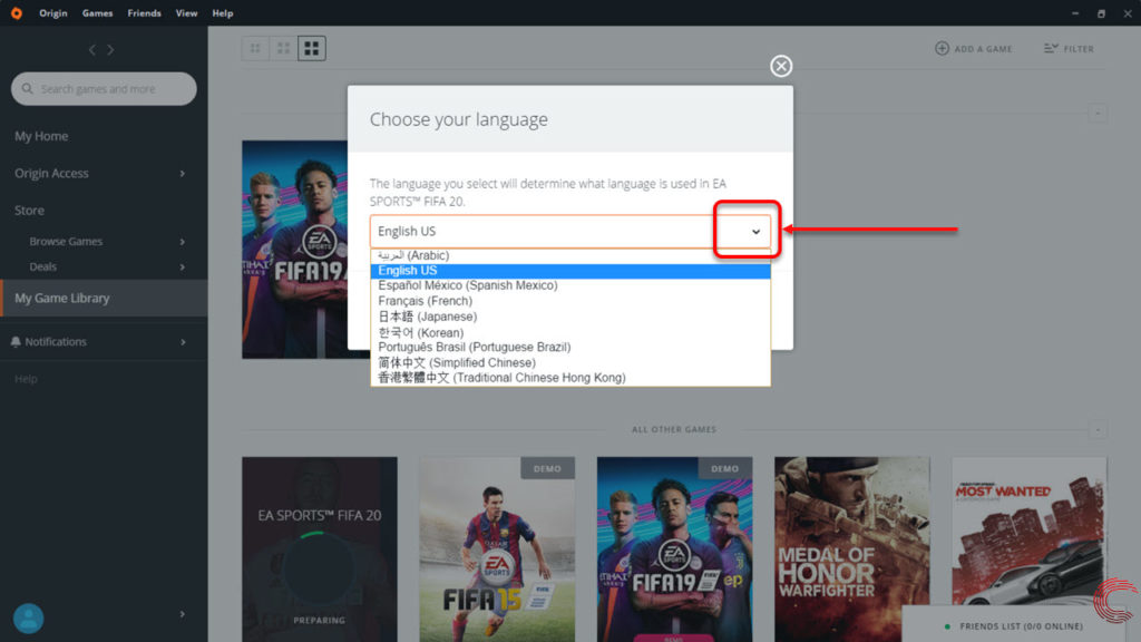 How to change the language in FIFA 19? | Candid.Technology