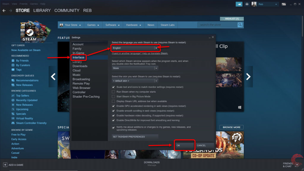 How to change Steam language?   Candid.Technology