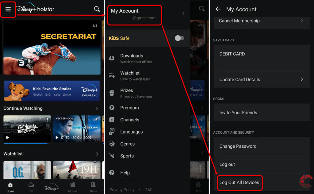 How to logout of Hotstar from all devices? On PC, Android and iOS