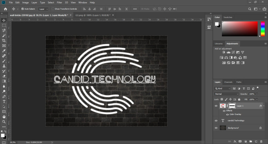How to create a neon sign in Photoshop? | Candid.Technology