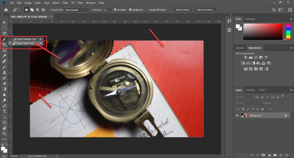 Guide to the 9 selection tools in Photoshop | Candid.Technology