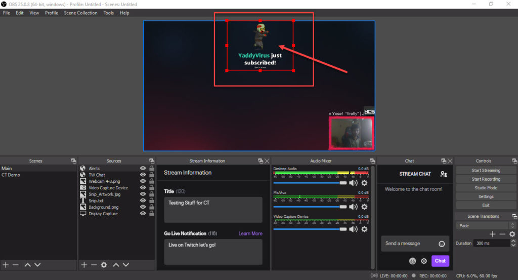 How to add alerts to OBS? | Candid.Technology
