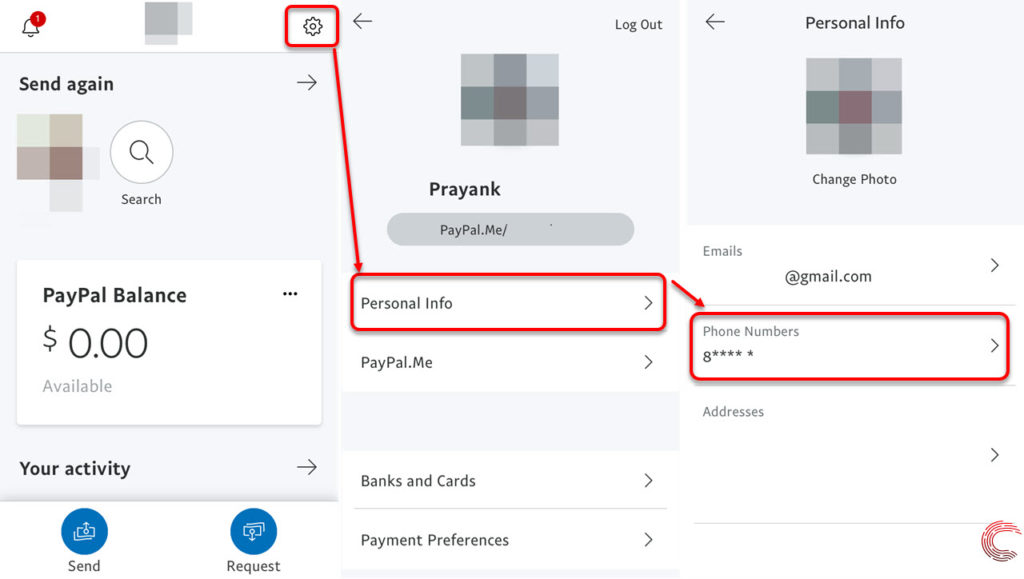 How to change the phone number on Paypal?   Candid.Technology