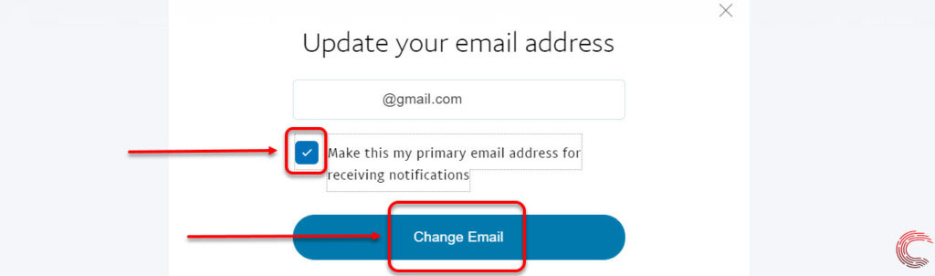 How to change the primary email address on PayPal?
