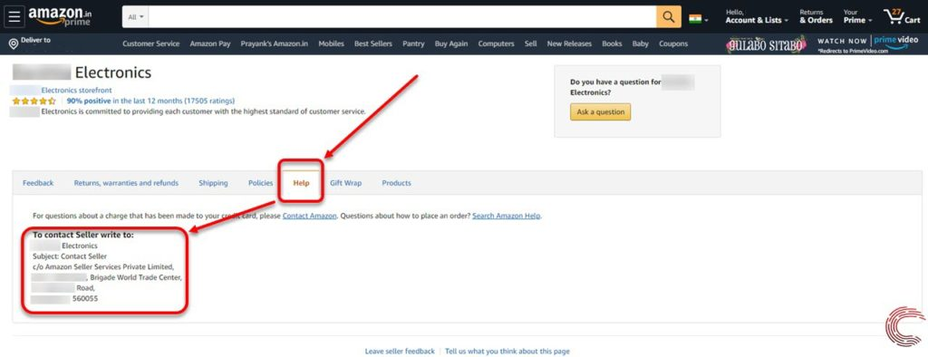 How to contact a seller on Amazon? | Candid.Technology