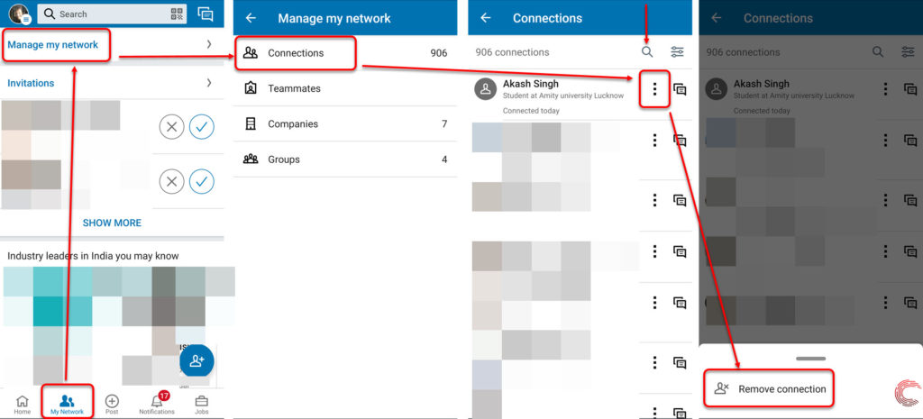 How to delete connections on LinkedIn? | Candid.Technology
