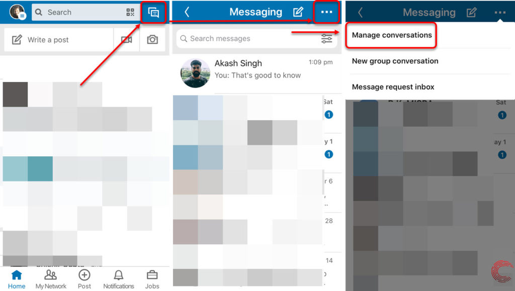 How to delete LinkedIn messages? Individual and Bulk