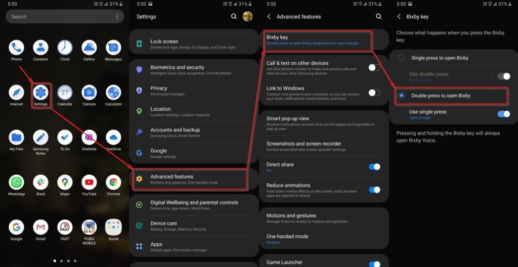 How to disable Samsung daily and remap Bixby button?