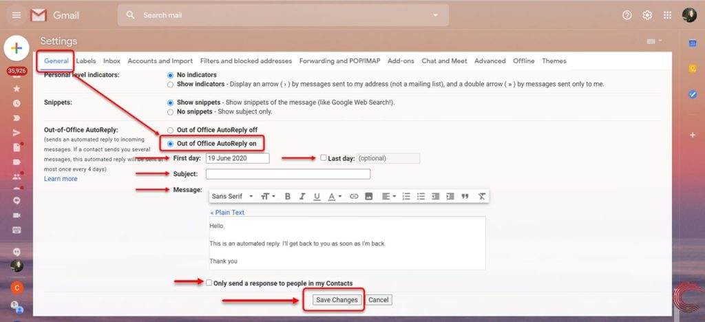 How to set up automatic reply in Gmail? | Candid.Technology