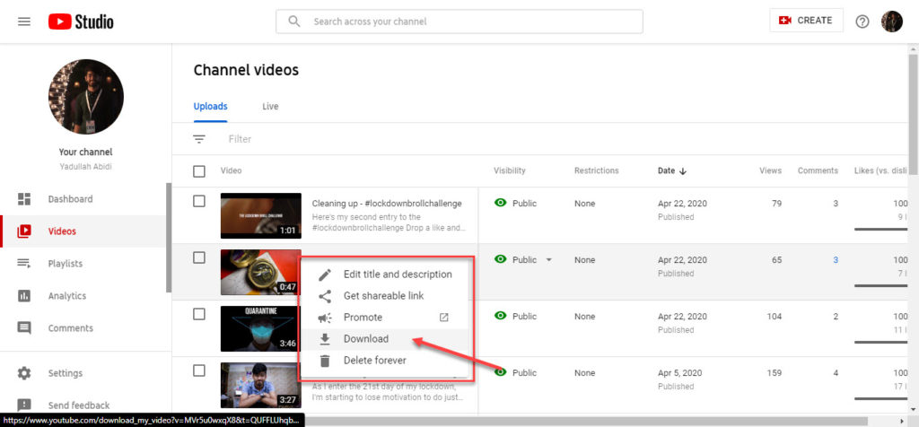 How to download your own Youtube videos? | Candid.Technology