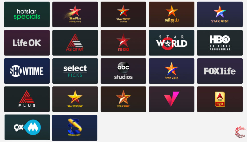 What channels are available on Disney+ Hotstar?