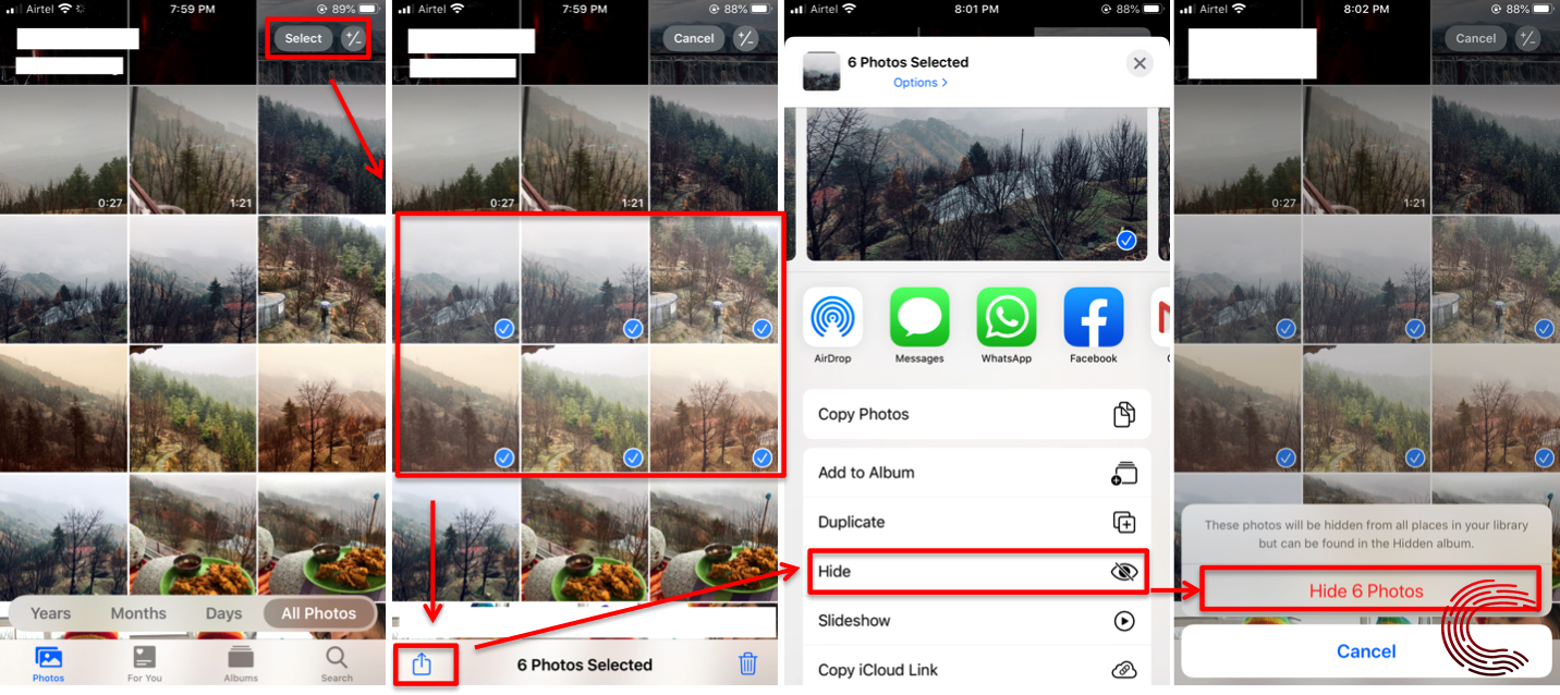 How to hide pictures on iPhone?   Candid.Technology
