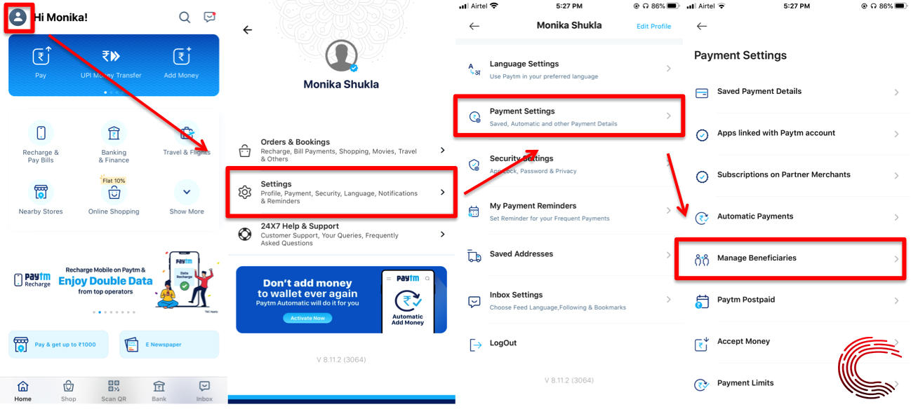 How to add beneficiary in Paytm?   Candid.Technology