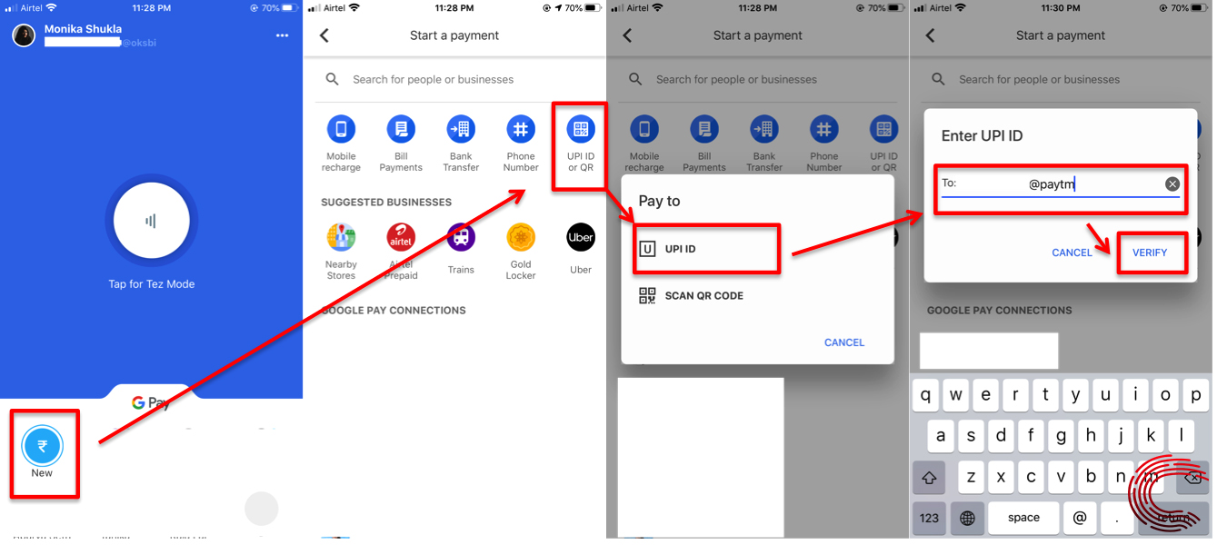 How to transfer money from Paytm to Google Pay and vice-versa?