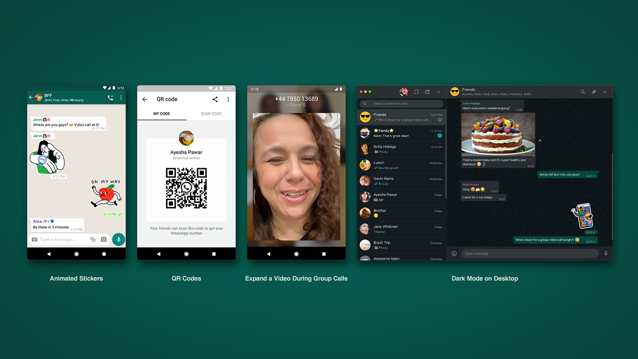 Whatsapp adds Dark Mode for Web, Contact-adding QR codes and more