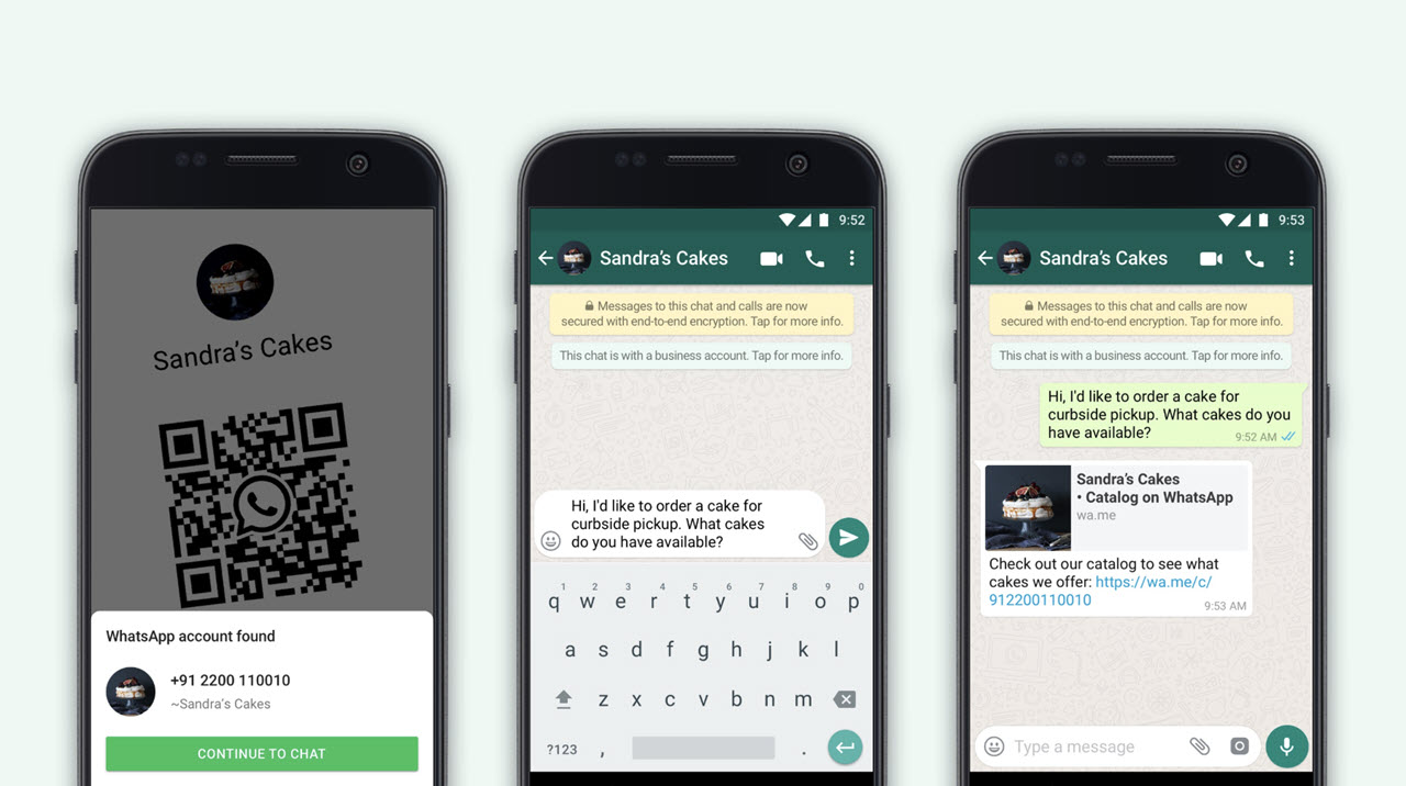 WhatsApp users can now connect with businesses via QR code