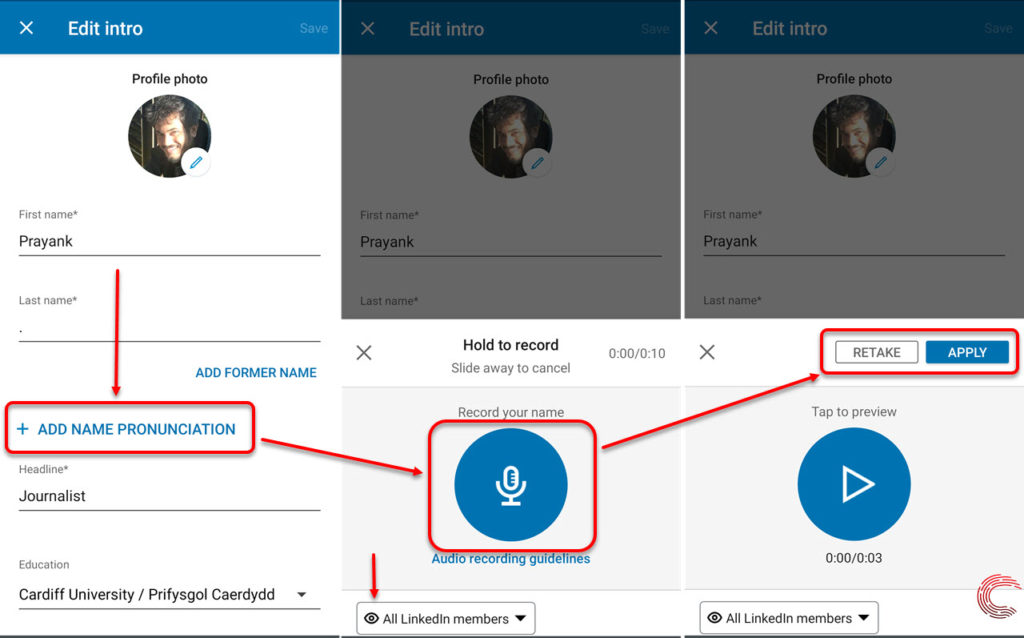 Users can now record their name's pronunciation on LinkedIn; here's how