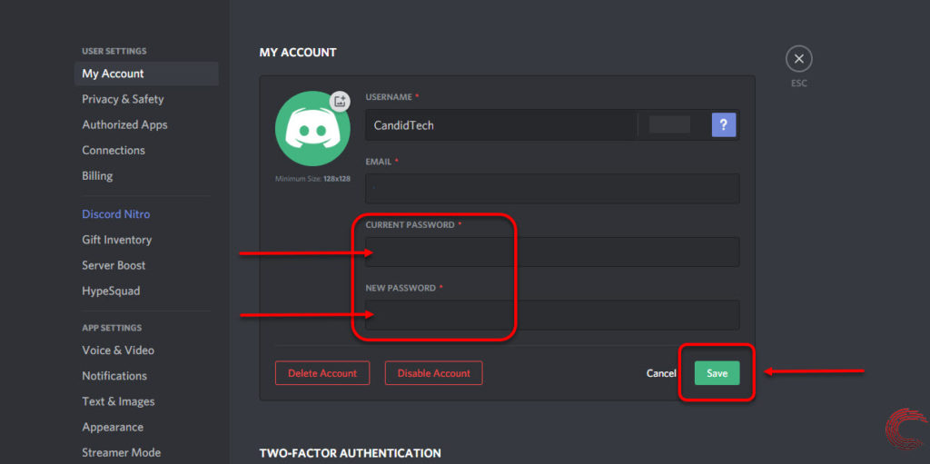 How to change your Discord password? | Candid.Technology