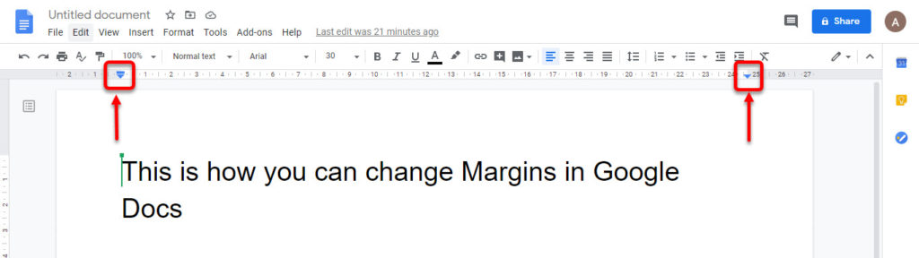How to change margins in Google Docs? | Candid.Technology