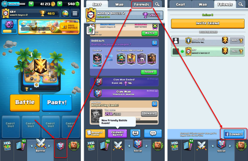 How to add friends in Clash Royale?   pinkarmy.netnology