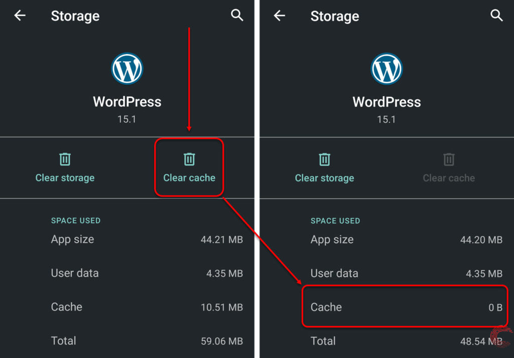 How to clear app cache and stored data in Android?