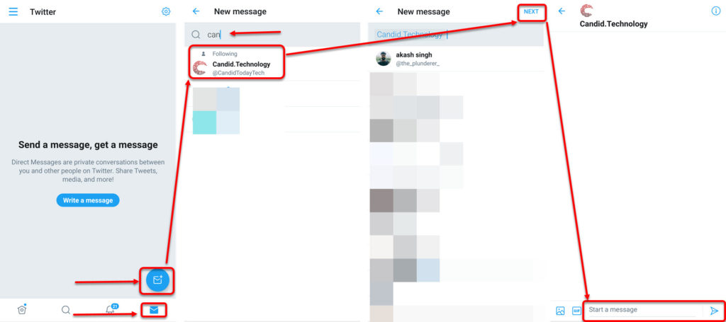 How to DM someone on Twitter? | Candid.Technology
