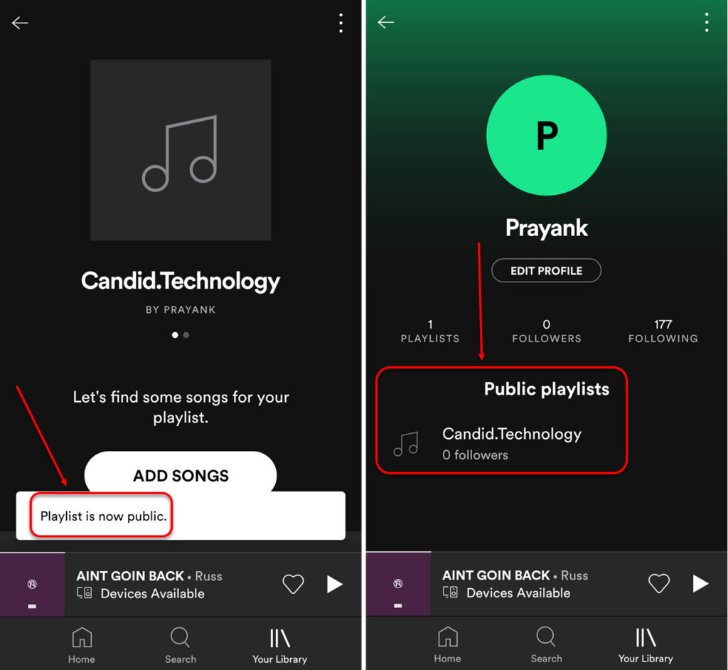 How to make your Spotify playlist public or private?
