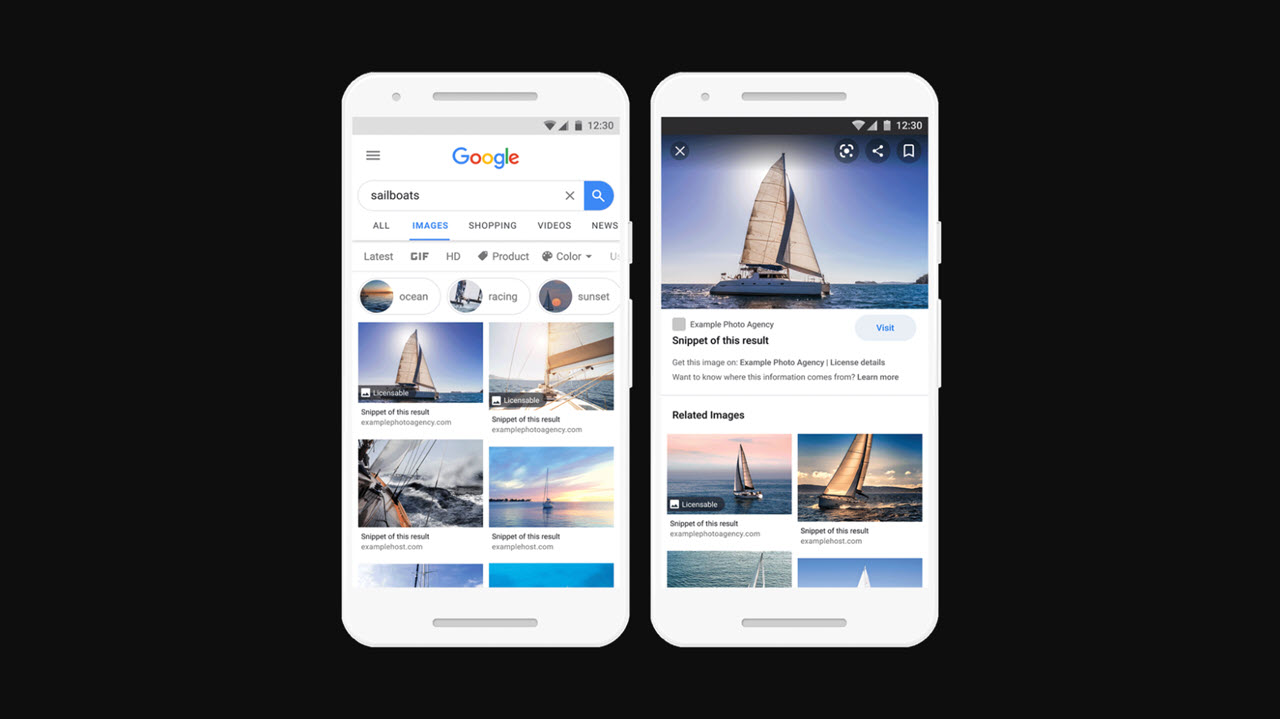 Google Images will now feature licensing information
