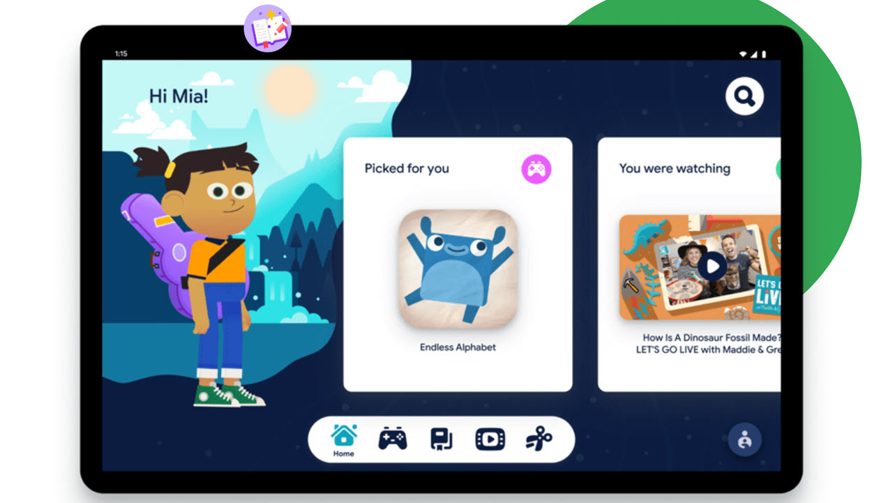 Google launches Kids Space for Android tablets with free apps and books