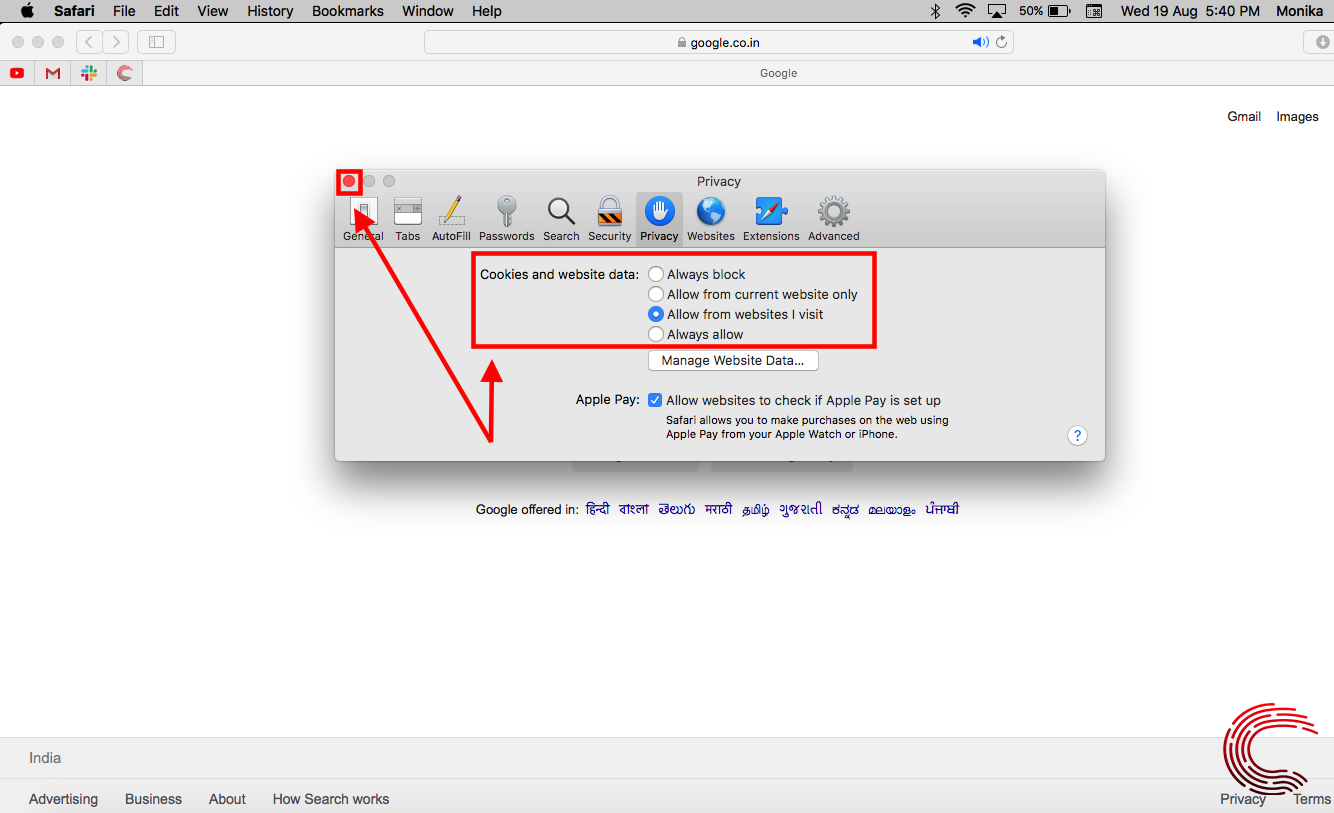 How to enable cookies on your MacBook? | Candid.Technology