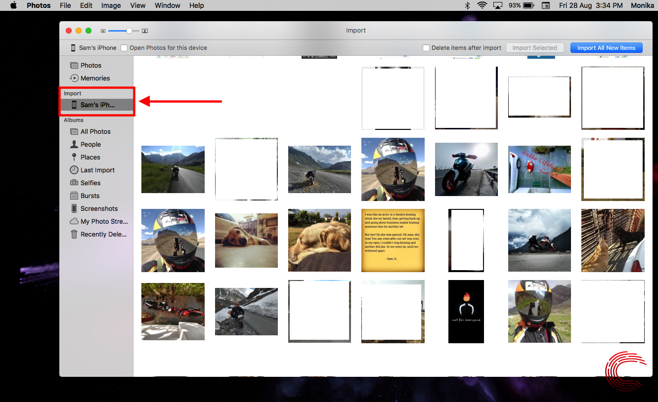How to import photos from your iPhone to MacBook?