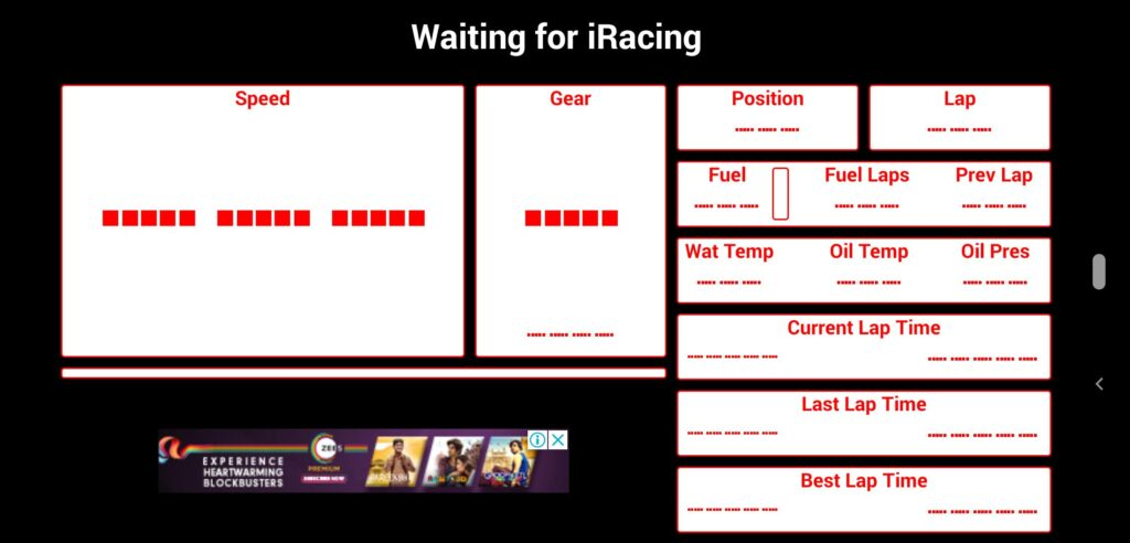 How to use your phone as a dashboard for iRacing?