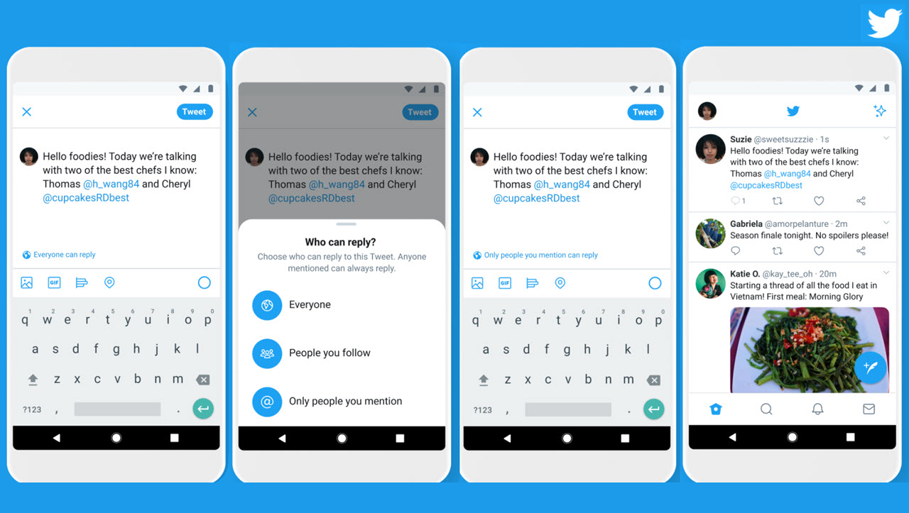 Twitter rolls out 'who can reply' feature to all users globally