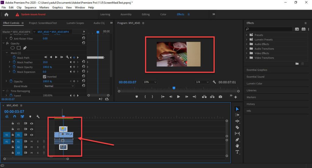 How to make a Screen Mask Transition in Premiere Pro?