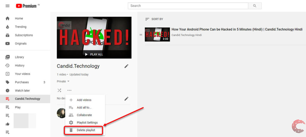 How to delete a playlist on YouTube? | Candid.Technology