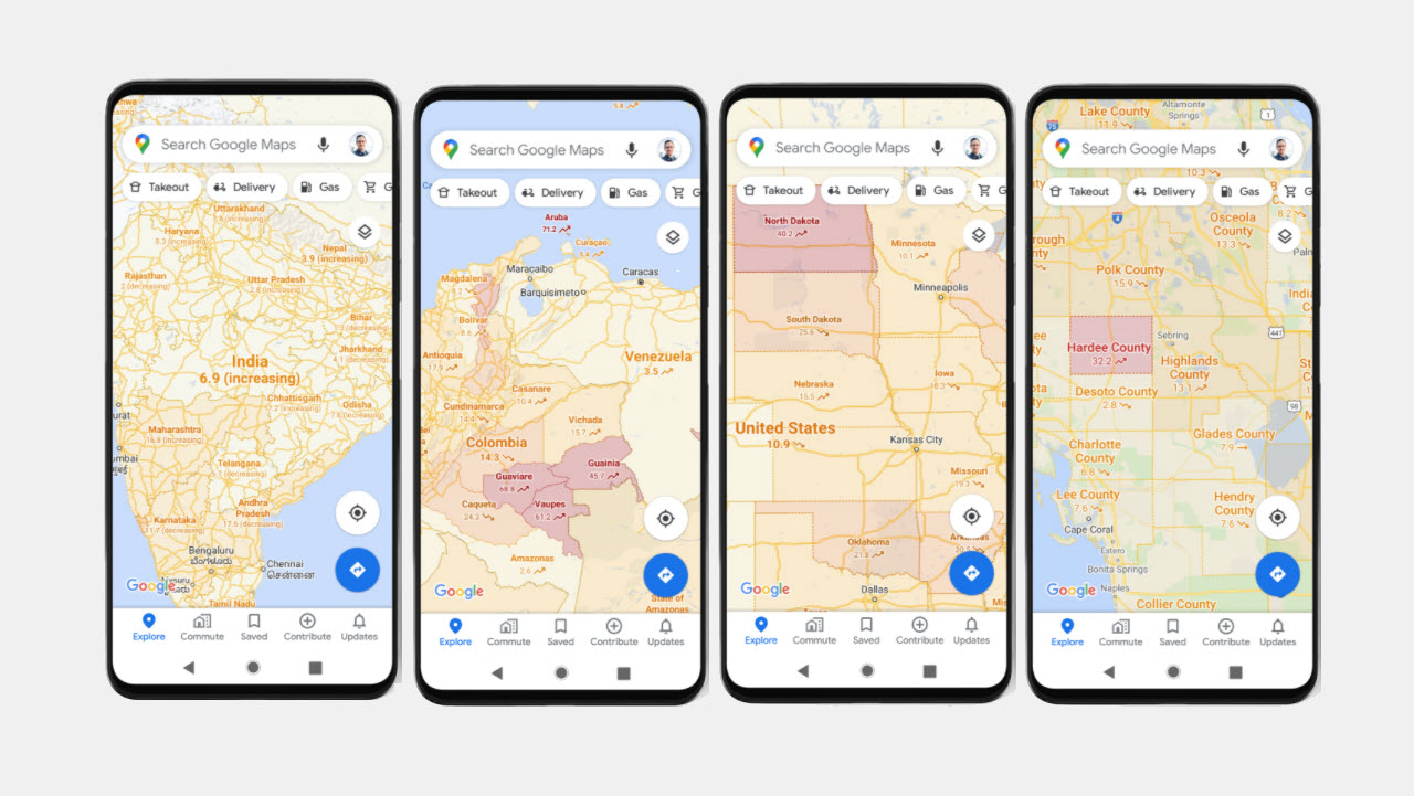 Google introduces COVID layer in Maps | Candid.Technology