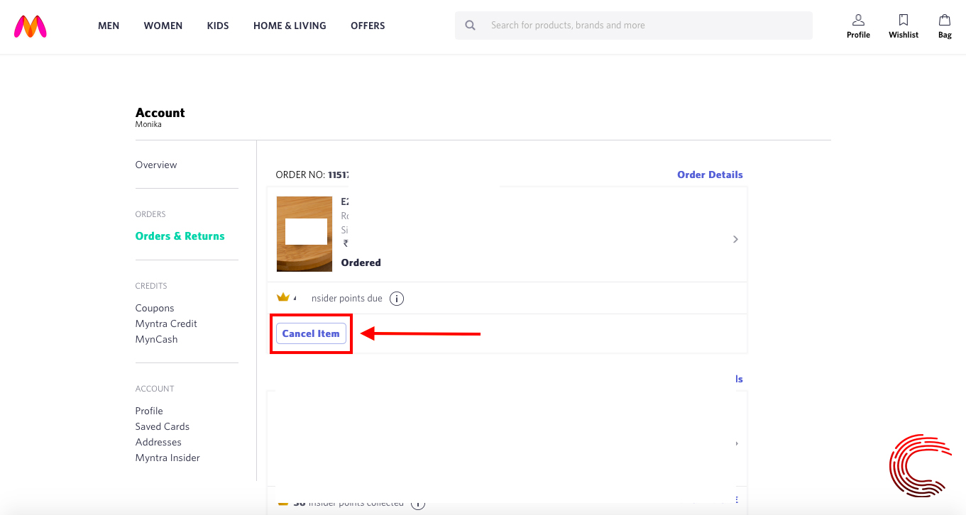 How to cancel an order on Myntra? | Candid.Technology