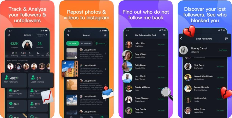 Top 7 Instagram follower unfollow tracker app for iOS