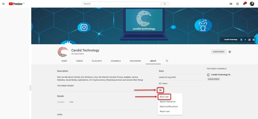 How to block a YouTube channel? | Candid.Technology