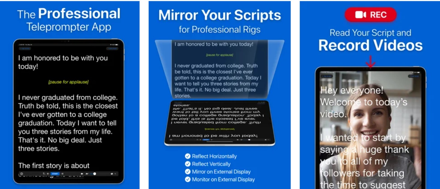 Top 7 Teleprompter apps for iPad | Candid.Technology