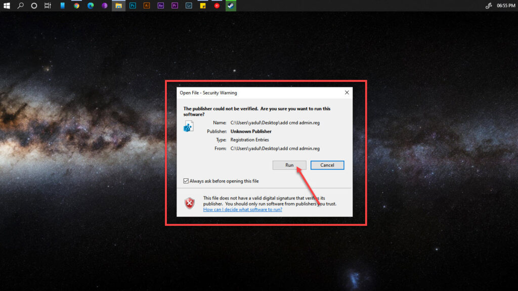 How to open Command Prompt Window in a folder in Windows 10?