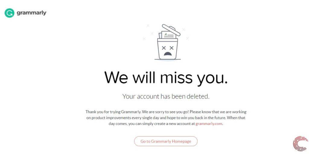 How to delete your Grammarly account? | Candid.Technology