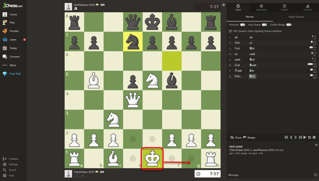 How to castle on Chess.com? | Candid.Technology