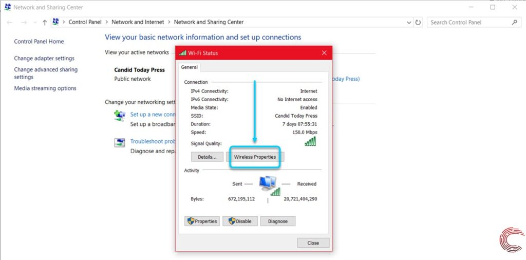 How to see the WiFi password in Windows 10? | Candid.Technology