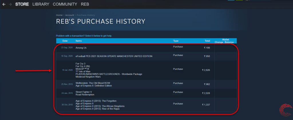How to see your Steam purchase history? How to refund Steam games?