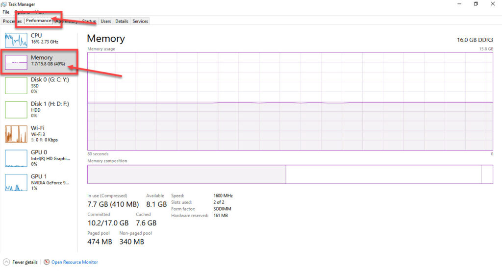 How to check RAM frequency in Windows 10 and macOS?